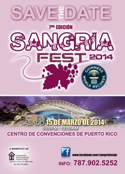 Sangria Fest 2014 flyer