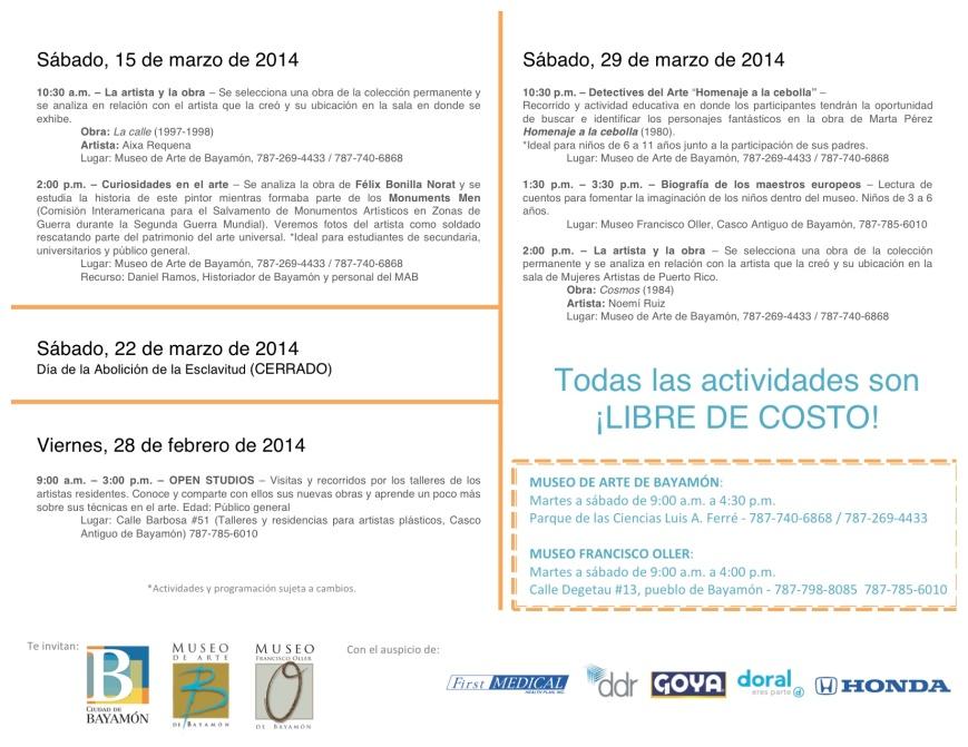 3. Calendario Marzo 2014 (B)