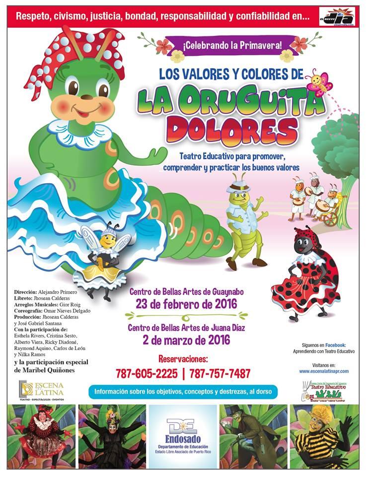 Los Valores y Colores de la Oruguita Dolores