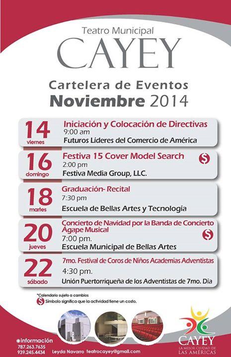 teatro municipal cayey noviembre