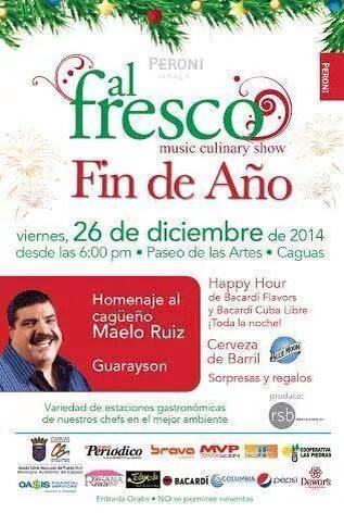 Al Fresco Música & Gastronomía- Diciembre 2014