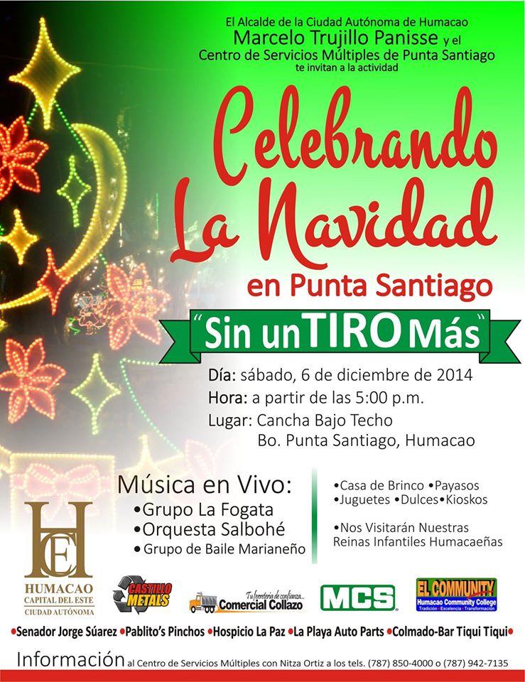 Celebrando la Navidad en Punta Santiago