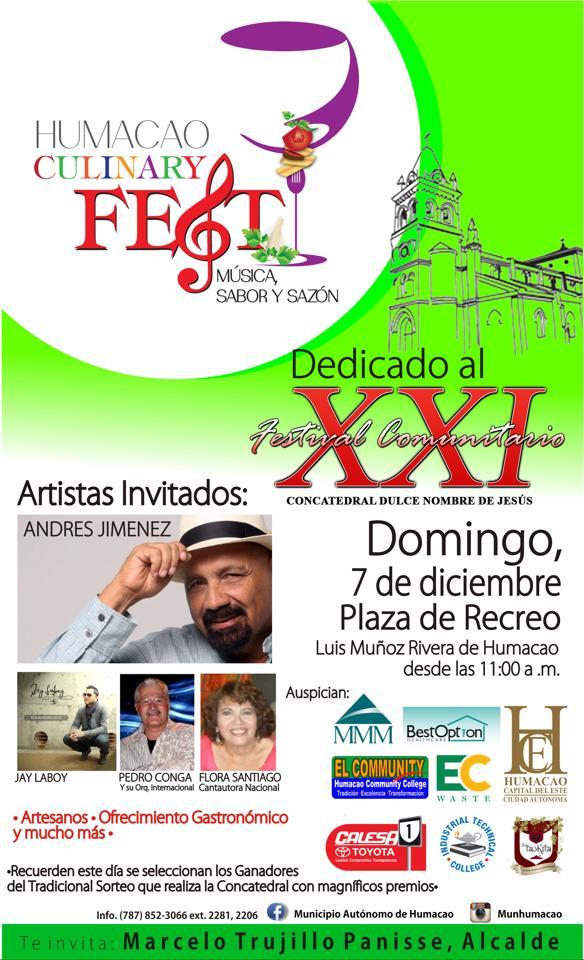 Humacao Culinary Fest, Música, Sabor y Sazón- Diciembre 2014