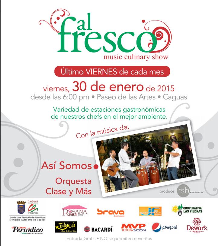 Al Fresco Música & Gastronomía- Enero 2015