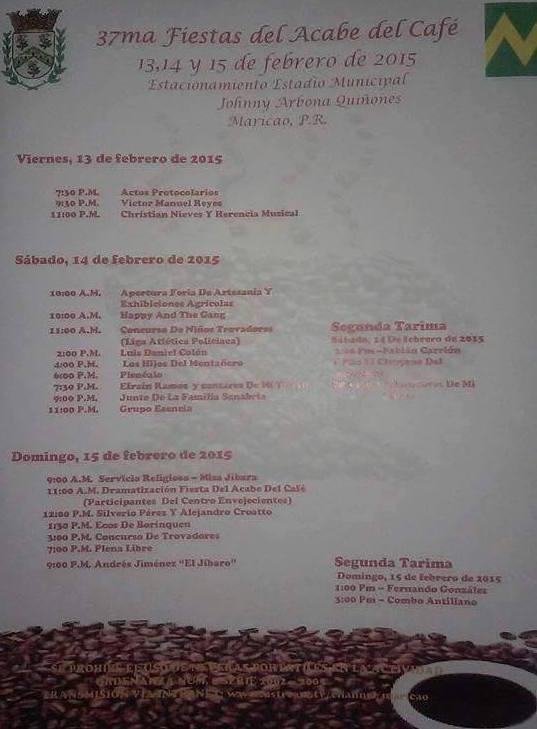 Fiesta del Acabe del Café 2015