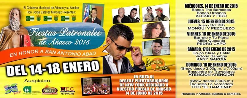 Fiestas Patronales de Añasco 2015