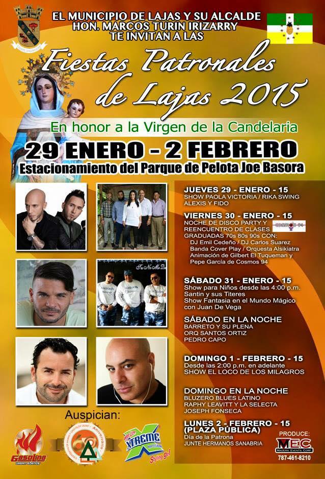 Fiestas Patronales de Lajas 2015