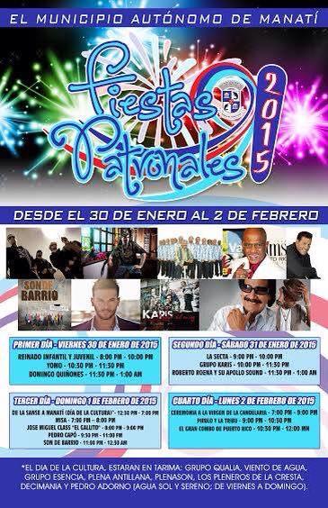 Fiestas Patronales de Manatí 2015