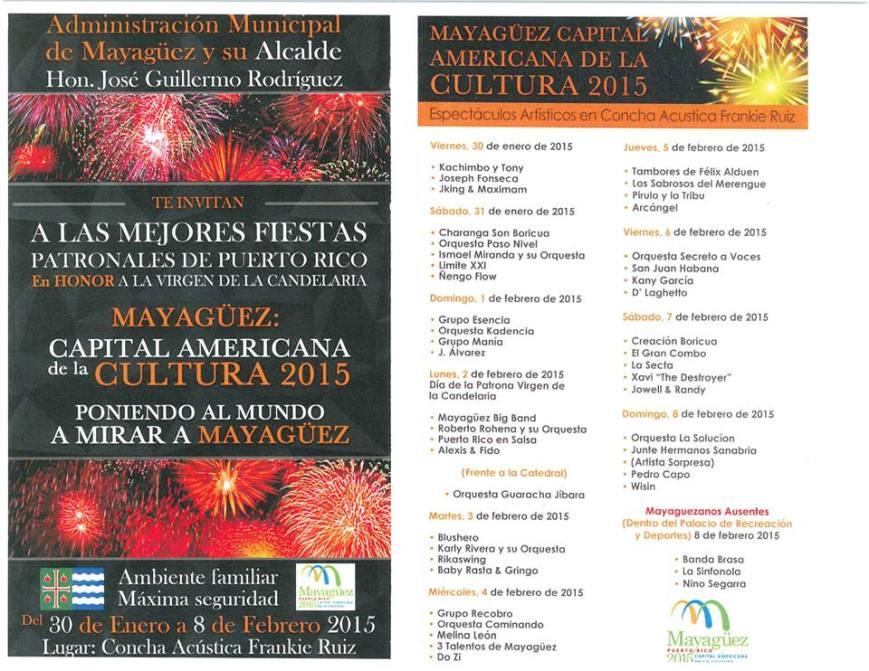 Fiestas Patronales de Mayagüez 2015