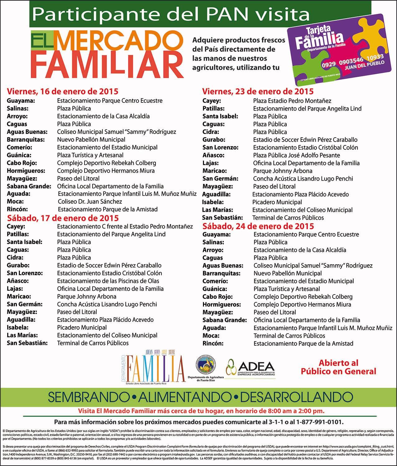 Mercado familiar son de aqui pr for Actividades jardin botanico caguas