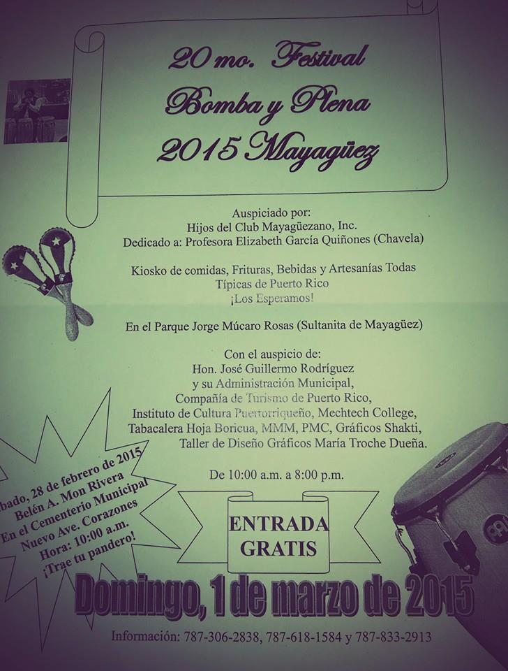 Festival de Bomba y Plena de Mayagüez 2015