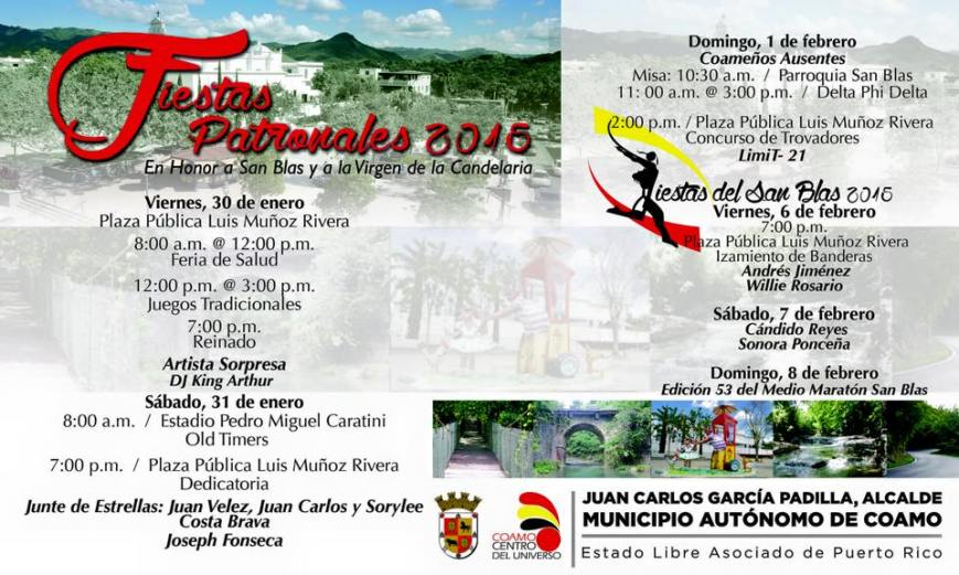 Fiestas Patronales y Fiestas del San Blas 2015