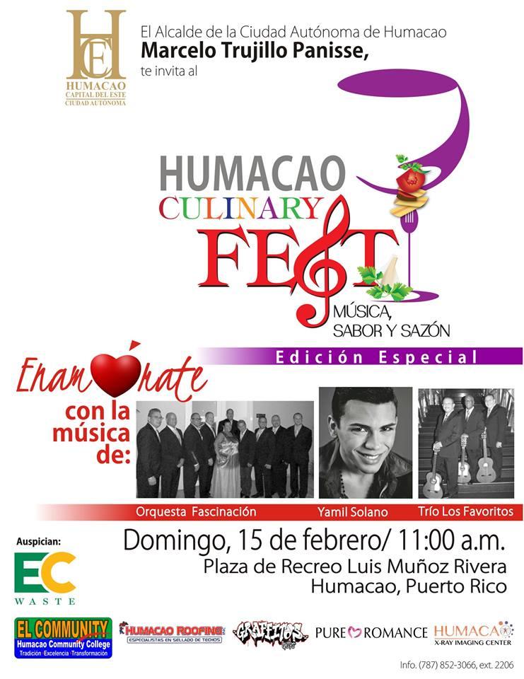 Humacao Culinary Fest, Música, Sabor y Sazón- Edición Especial