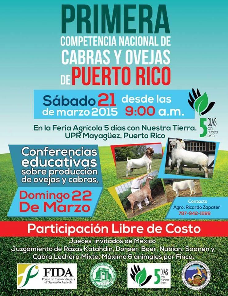 Competencia Nacional de Cabras y Ovejas de Puerto Rico 2015