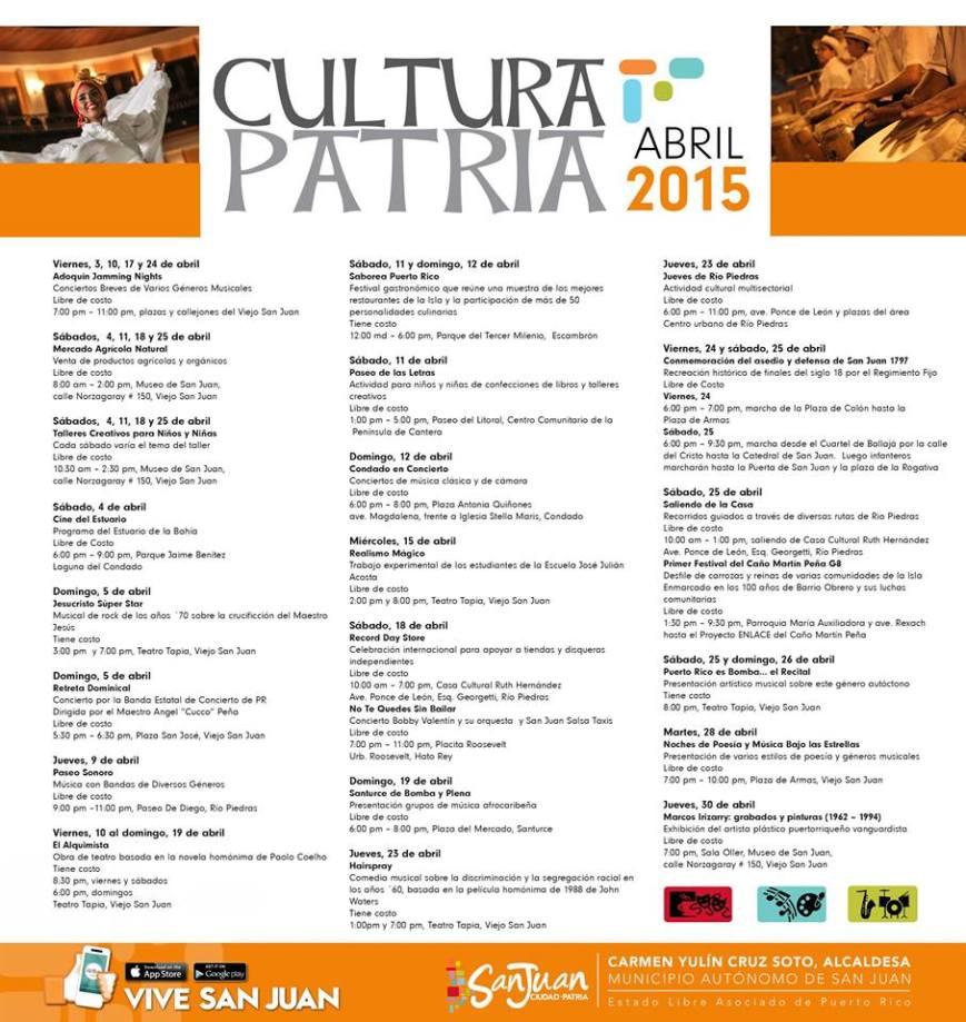 Cultura Patria Abril 2015