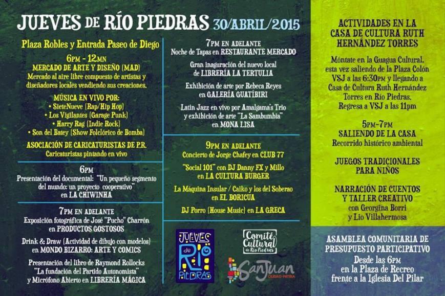 Jueves de Río Piedras- Abril 2015