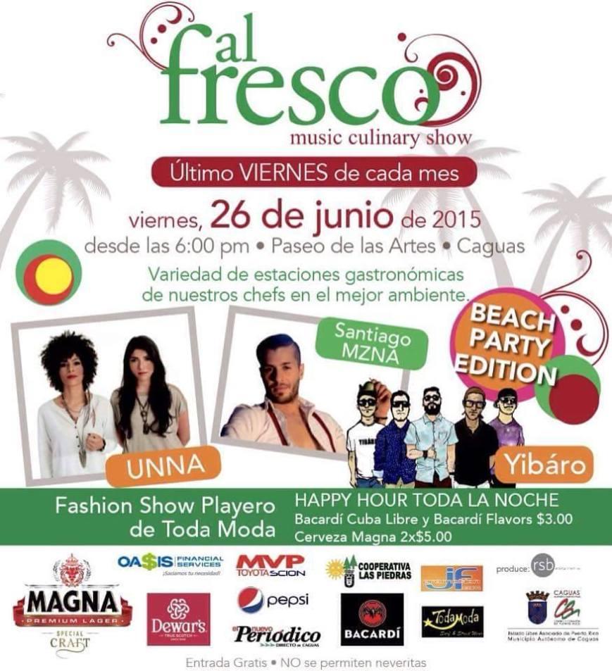 Al Fresco Música & Gastronomía- Junio 2015