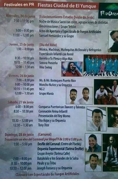 Fiestas Ciudad de El Yunque 2015