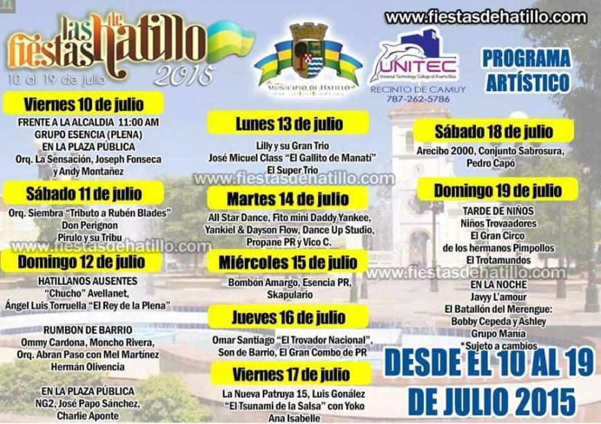 Fiestas Patronales de Hatillo 2015