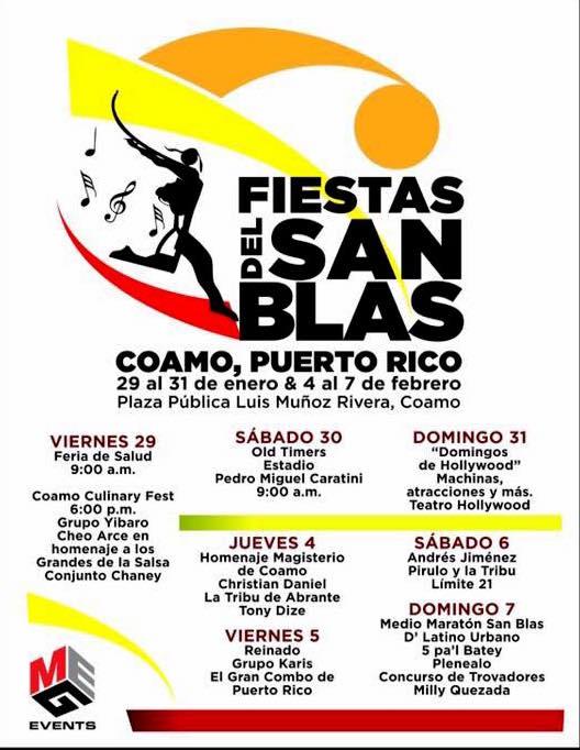 Fiestas Patronales de Coamo y Fiestas del San Blas 2016