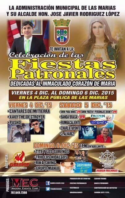 Fiestas Patronales de Las Marías 2015