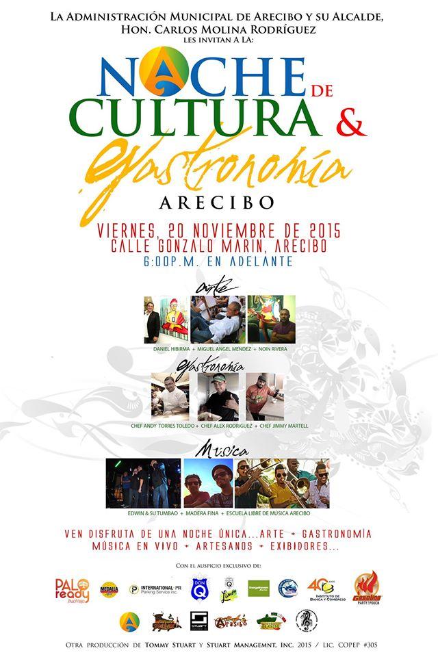 Noche de Cultura y Gastronomía @ Arecibo