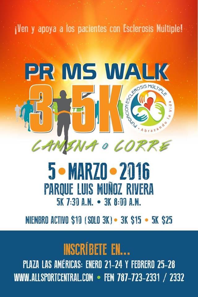 3k-5k Fundación de Esclerosis Múltiple de Puerto Rico