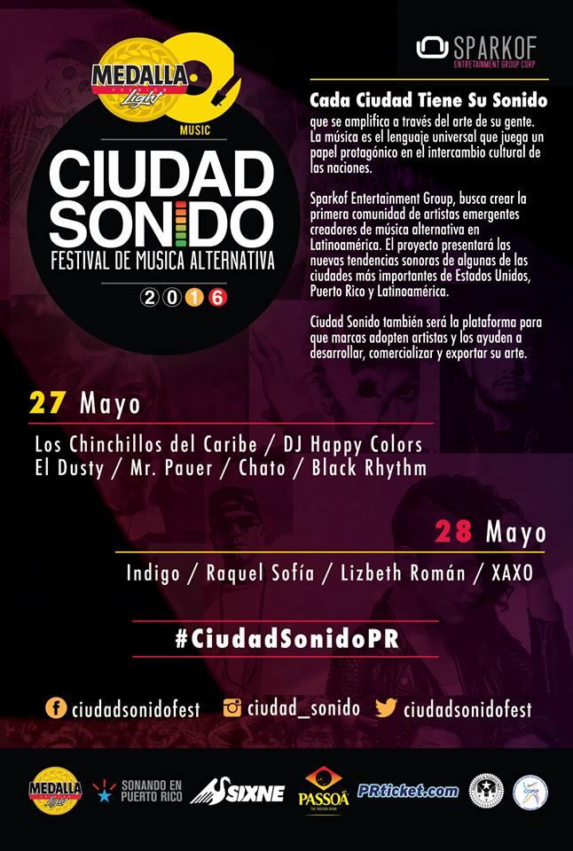 Ciudad Sonido- Festival de Música Alternativa 2016
