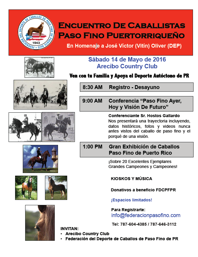 Encuentro de Caballistas de Paso Fino Puro Puertorriqueño