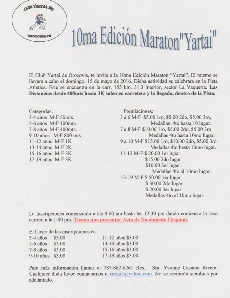 Maratón Yartai 2016