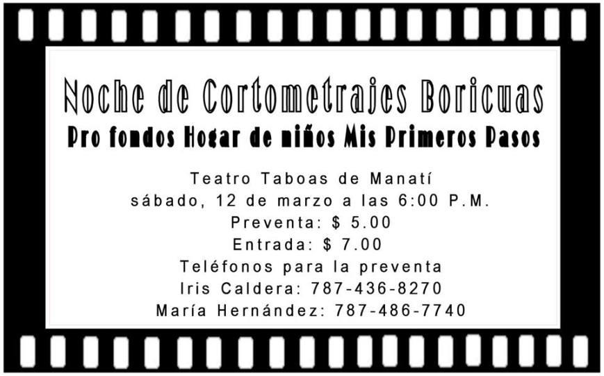 Noche de Cortometrajes Boricuas