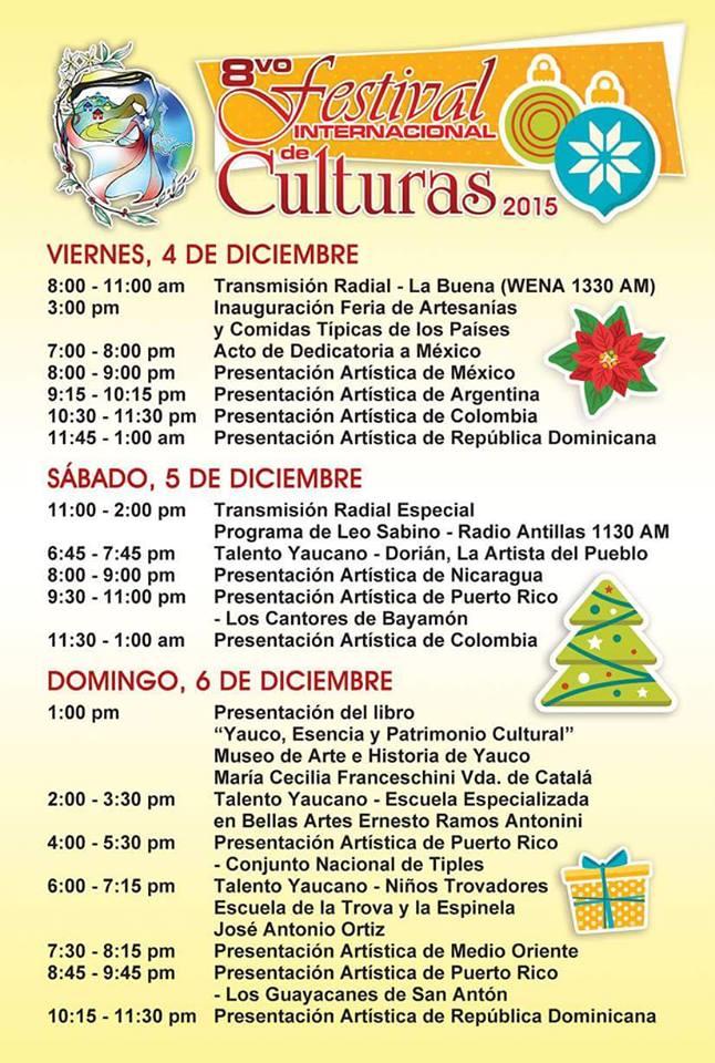 Programa artístico del Festival