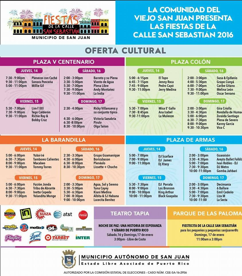 Calendario Actividades 2014 Hato Rey Puerto Rico