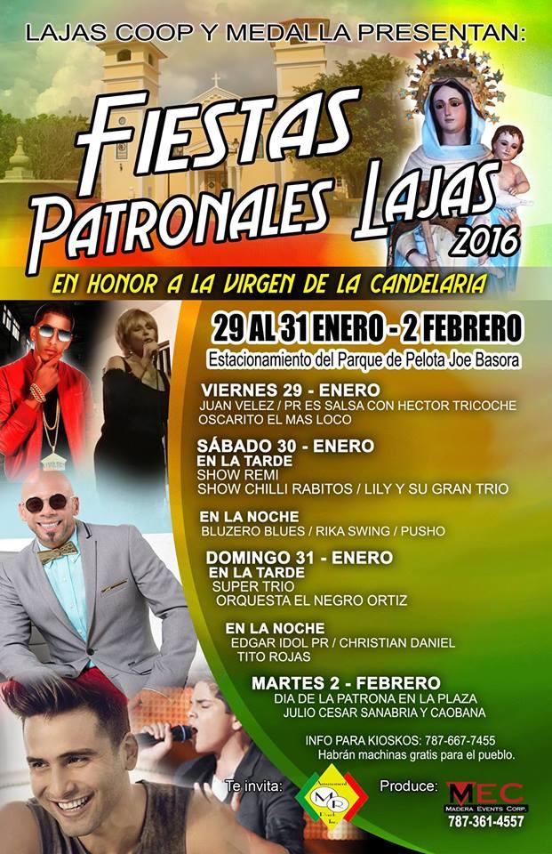 Fiestas Patronales de Lajas 2016