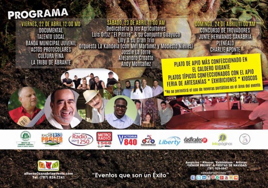 Festival del Apio 2016 Irinerario