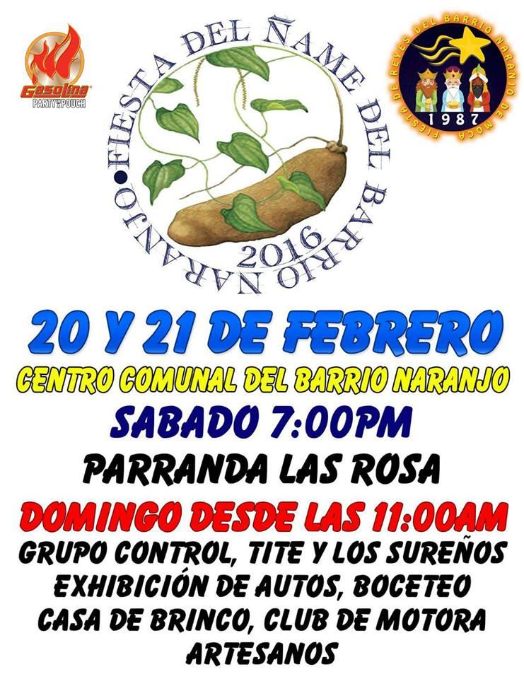 Fiesta del Ñame de Barrio Naranjo 2016