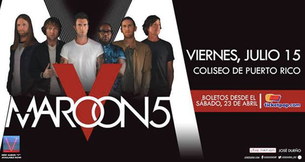 Maroon 5- Maroon V World Tour