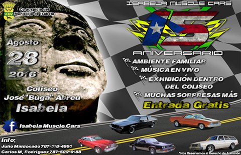 Aniversario Isabela Muscle Cars