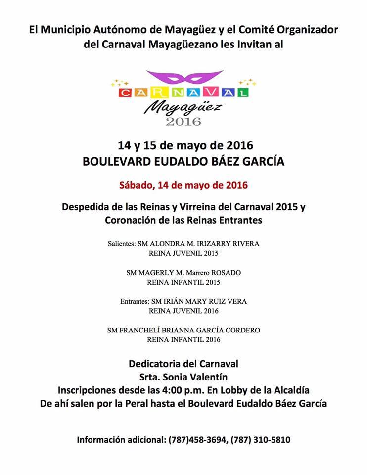 Carnaval Mayagüezano 2016 1