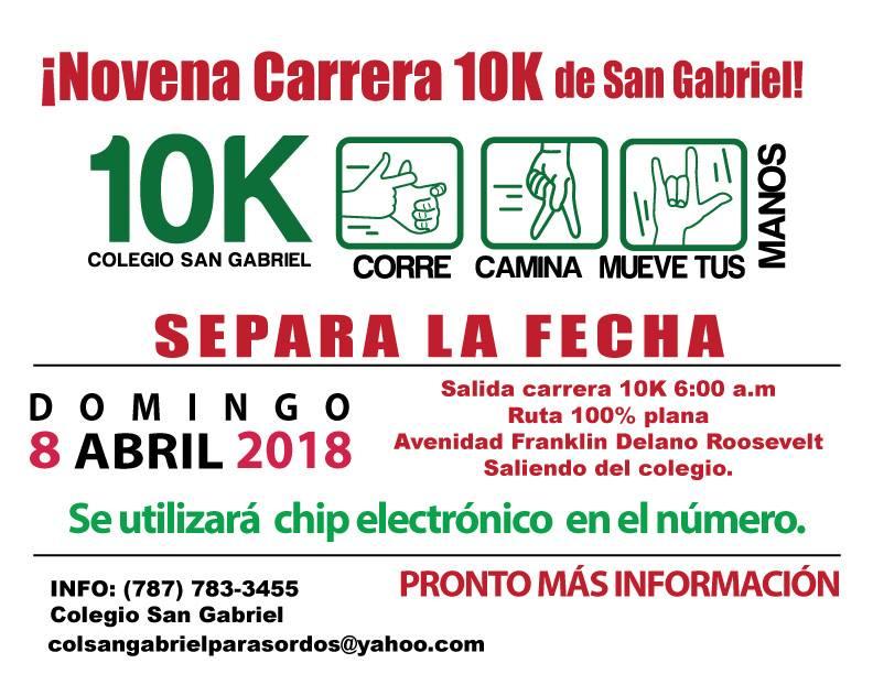 10K Corre, Camina Mueve Tus Manos - Colegio San Gabriel