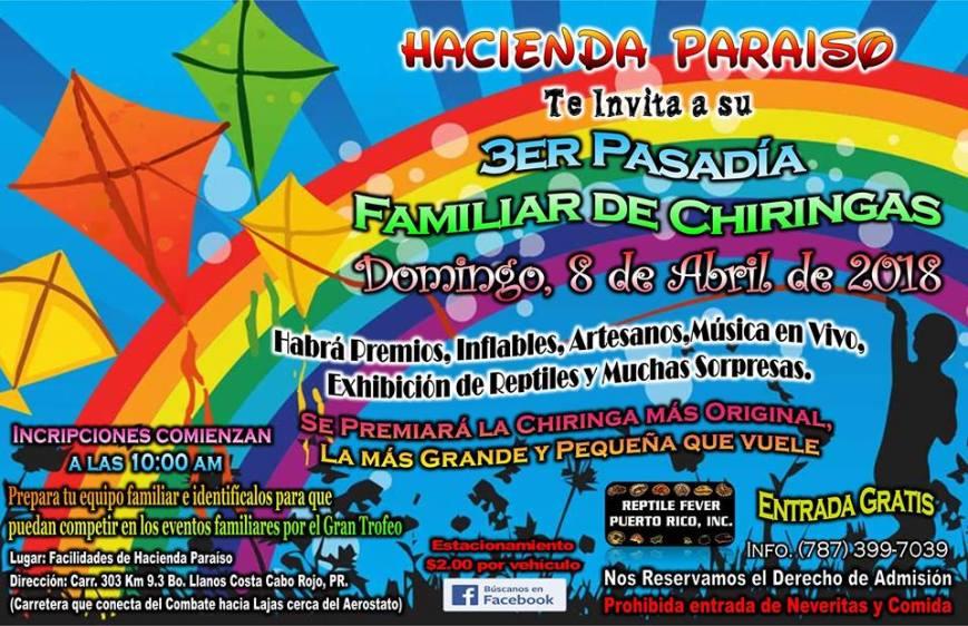3er Pasadía Familiar de Chiringas en Hacienda Paraíso