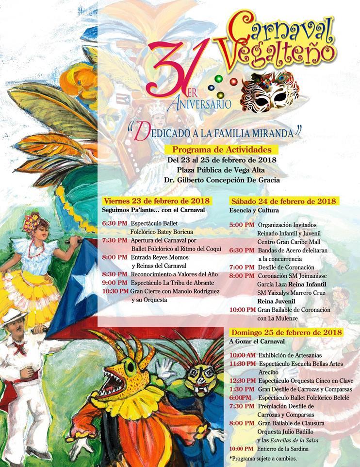 Carnaval Vegalteño 2018
