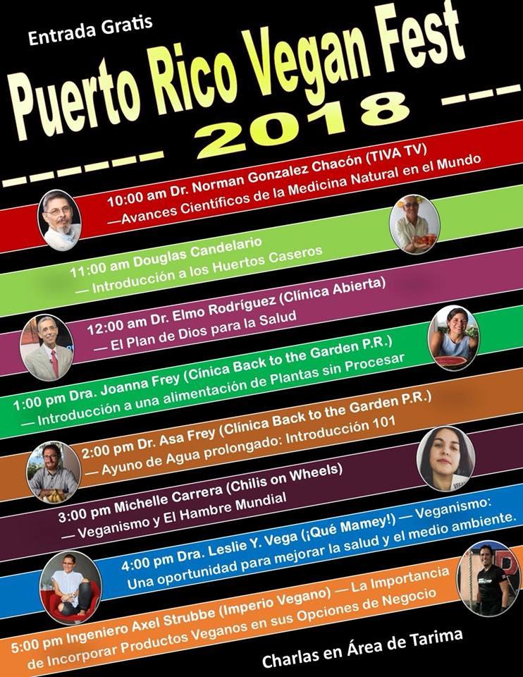 Puerto Rico Vegan Fest 2018 Calendario