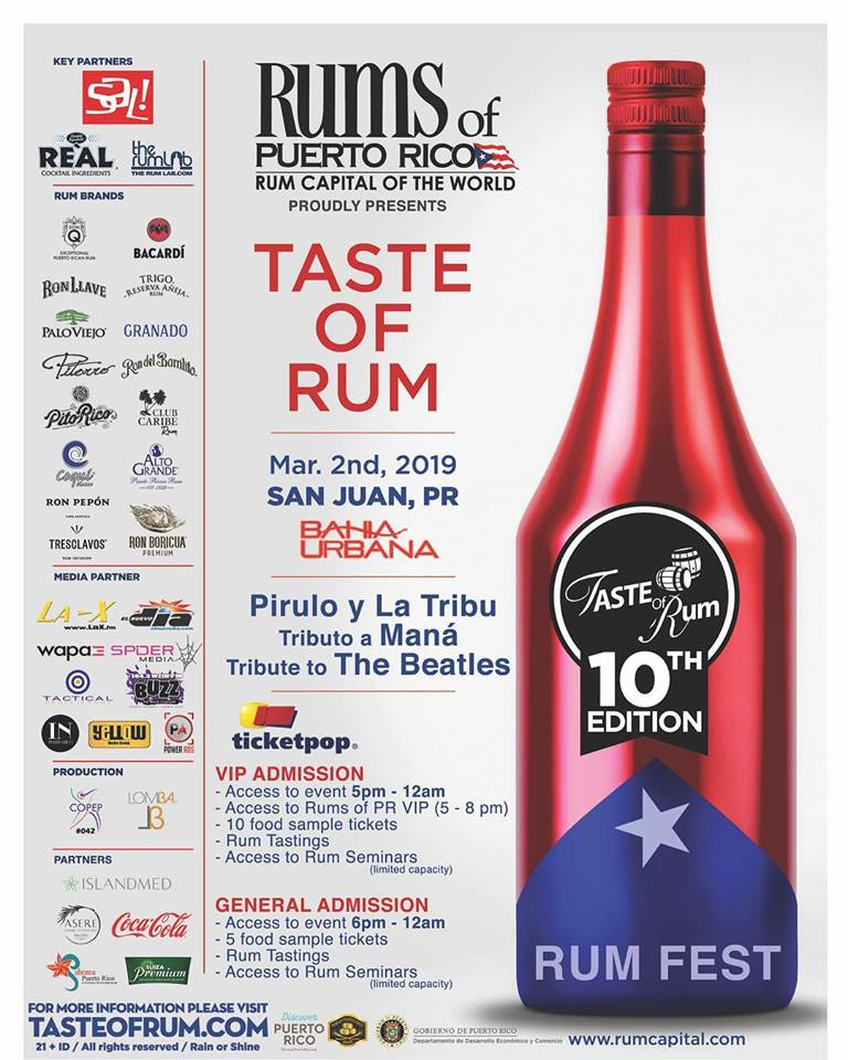 Taste of Rum - Puerto Rico Rum Festival 2019